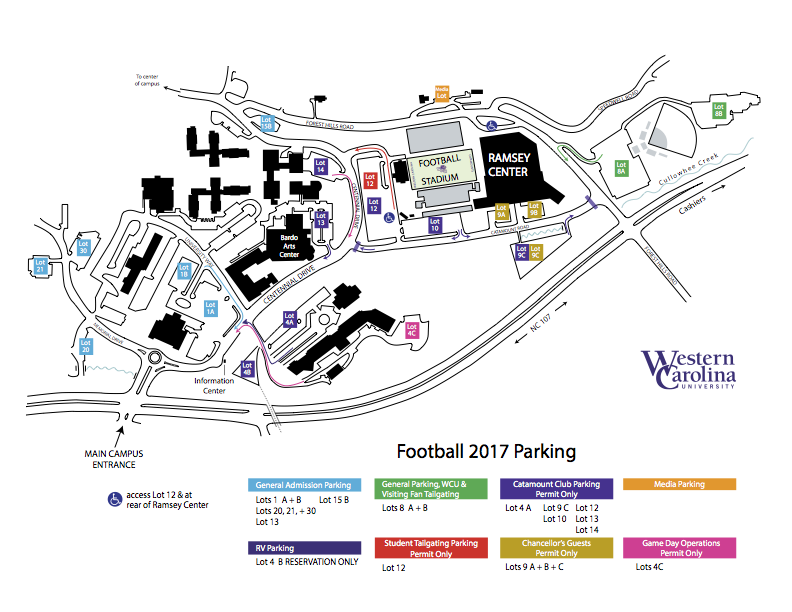 2016 Football Parking Map