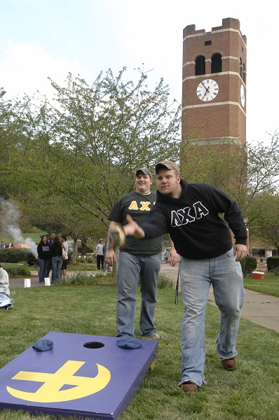 Greeks on the lawn
